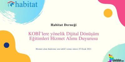 KOBİ'lere yönelik Dijital Dönüşüm Eğitimleri Hizmet Alımı Duyurusu
