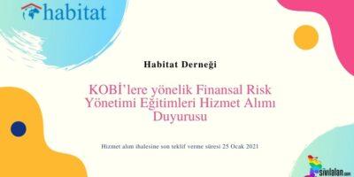 KOBİ'lere yönelik Finansal Risk Yönetimi Eğitimleri Hizmet Alımı Duyurusu