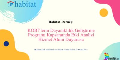 KOBİ'lerin Dayanıklılık Geliştirme Programı Kapsamında Etki Analizi Hizmet Alımı Duyurusu
