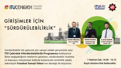 """İTÜ Çekirdek #Sürdürülebilirlik Programı kapsamında """"Girişimciler için Sürdürülebilirlik"""" başlıklı seminer düzenleniyor!"""