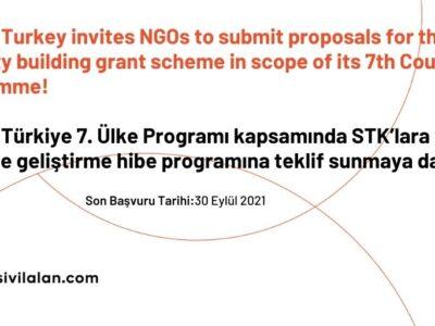 UNFPA Türkiye 7. Ülke Programı kapsamında STK'lara yönelik kapasite geliştirme hibe programına teklif sunmaya davet ediyor!